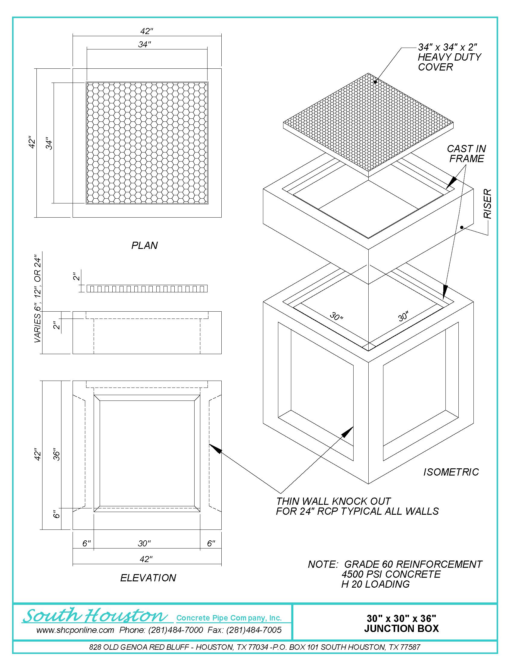 Junction Boxes South Houston Concrete Pipe Company Inc